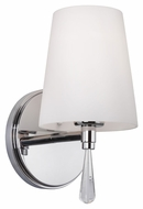 Murray Feiss VS53001-CH Monica Chrome Finish 5.375  Wide Lighting Wall Sconce