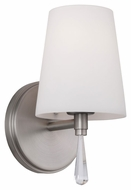 Feiss VS53001-SN Monica Satin Nickel Finish 9.625  Tall Wall Lighting Sconce