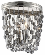 Murray Feiss WB1710PN Malia Polished Nickel Finish 8.25  Wide Wall Light Sconce