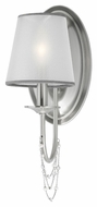 Murray Feiss WB1715BS Aveline Brushed Steel Finish 5.5  Wide Wall Light Sconce