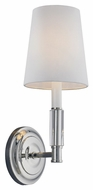 Murray Feiss WB1717PN Lismore Polished Nickel Finish 13.875  Tall Wall Lamp