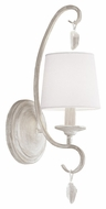 Feiss WB1720CHKW Caprice Chalk Washed Finish 5.5  Wide Light Sconce