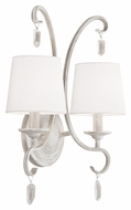 Feiss WB1721CHKW Caprice Chalk Washed Finish 16.875  Tall Lighting Sconce