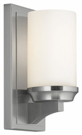 Murray Feiss WB1722BS Amalia Brushed Steel Finish 4.5  Wide Lamp Sconce