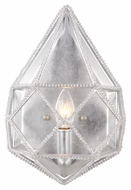 Murray Feiss WB1734SLV Marquise Silver Finish 13.375  Tall Sconce Lighting