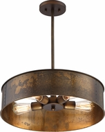 Nuvo 60-5894 Kettle Vintage Weathered Brass Drum Pendant Lamp