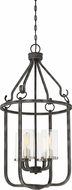 Nuvo 60-6127 Sherwood Contemporary Iron Black with Brushed Nickel Accents Foyer Lighting Fixture