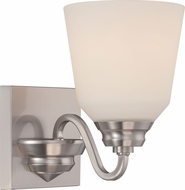 Nuvo 62-366 Calvin Brushed Nickel LED Wall Sconce Lighting
