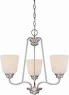 Nuvo 62-369 Calvin Brushed Nickel LED Mini Chandelier Light