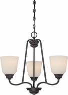 Nuvo 62-379 Calvin Mahogany Bronze LED Mini Chandelier Lighting