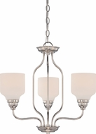 Nuvo 62-389 Kirk Polished Nickel LED Mini Lighting Chandelier