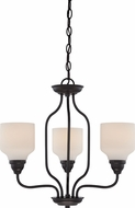 Nuvo 62-399 Kirk Mahogany Bronze LED Mini Chandelier Lamp