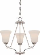 Nuvo 62-429 Cody Polished Nickel LED Mini Chandelier Light