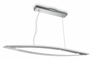 Philips 373694848 Ponte Contemporary Brushed Nickel Finish 51.3  Wide LED Kitchen Island Light