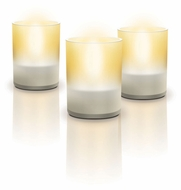 Philips 691266048 Tea Lights Contemporary Clear Finish 2.4  Tall LED Table Lighting