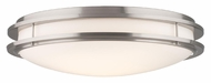 Philips F245836U Cambridge Contemporary Satin Nickel Finish 6  Tall Flush Lighting