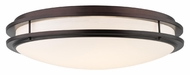 Philips F245870U Cambridge Modern Merlot Bronze Finish 24  Wide Ceiling Light Fixture