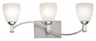 Philips F442536 Crescendo Modern Satin Nickel Finish 23  Wide Bath Wall Sconce