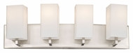 Philips F451736 Avenue Modern Satin Nickel Finish 24  Wide 4 Light Vanity Lighting Fixture