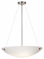 Philips F53736U Crossroads Modern Satin Nickel Finish 30  Wide Pendant Lighting Fixture