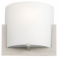 Philips F541336 Bow Contemporary Satin Nickel Finish 6.75  Tall Wall Light Sconce