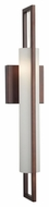 Philips F556270 Front Row Modern Merlot Bronze Finish 4.5  Wide Halogen Wall Sconce