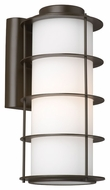 Philips F848868 Hollywood Hills Contemporary Deep Bronze Finish 16.375  Tall Outdoor Wall Sconce Light