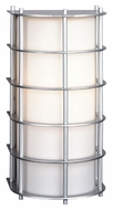 Philips F849141 Hollywood Hills Contemporary Vista Silver Finish 11  Tall Outdoor Sconce Lighting