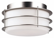 Philips F849262NV Hollywood Hills Modern Metallic Silver Finish 10  Wide Ceiling Lighting