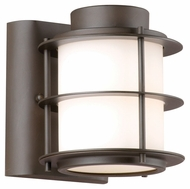 Philips F849668 Hollywood Hills Modern Deep Bronze Finish 5.5  Wide Exterior Lamp Sconce