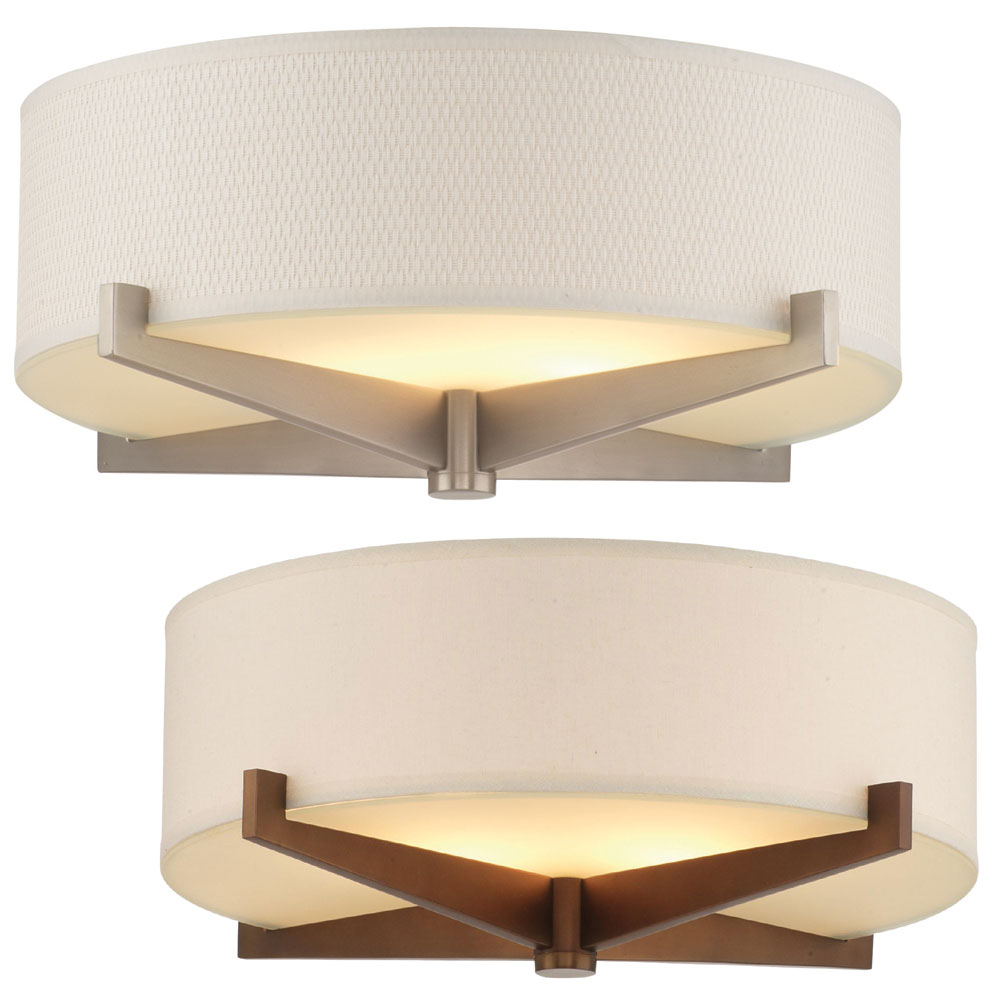 Philips Fisher Island Modern Wide Flush Mount Lighting PHI Fish