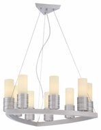 Philips FK0003836 Phoenix Contemporary Satin Nickel Finish 9.5  Tall Chandelier Lighting