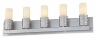 Philips FV0005836 Phoenix Modern Satin Nickel Finish 30.75  Wide 5 Light Bathroom Lighting Sconce