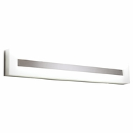 PLC 1017-PC Estilo Modern Polished Chrome Fluorescent 36  Bath Light Fixture