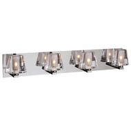 PLC 1024-PC Cheope Modern Polished Chrome Halogen 4-Light Bathroom Light Fixture