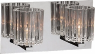 PLC 1062-PC Felicia Contemporary Polished Chrome Halogen 2-Light Bathroom Vanity Lighting