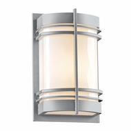 PLC 16675SL Telford Contemporary Silver Exterior Wall Lighting
