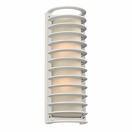 PLC 2036WH Sunset Modern Silver Outdoor Wall Sconce