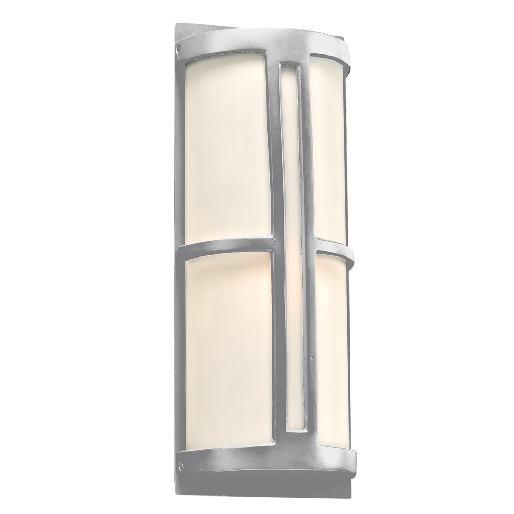 PLC SL Rox Contemporary Silver Outdoor Wall Light