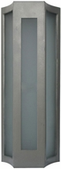PLC 31770SL Derby Contemporary Silver LED Outdoor Wall Lamp
