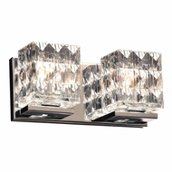 PLC 32042PC Blour Modern Polished Chrome 2-Light Bathroom Lighting Fixture