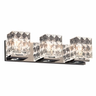 PLC 32043PC Blour Contemporary Polished Chrome 3-Light Vanity Lighting