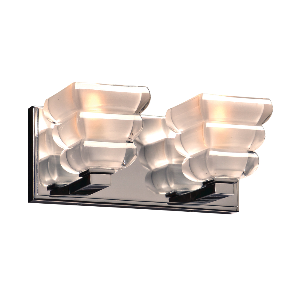 PLC 32052PC Titan Contemporary Polished Chrome 2 Light Bath Lighting Fixture