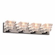 PLC 32054PC Titan Contemporary Polished Chrome 4-Light Bathroom Vanity Lighting