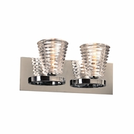 PLC 32062PC Enzis Modern Polished Chrome 2-Light Bathroom Sconce