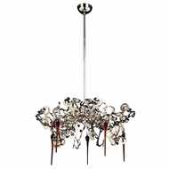 PLC 70005-PC Exos Modern Polished Chrome Halogen Chandelier Lamp