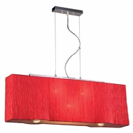 PLC 73008-RED Leona Contemporary Red Kitchen Island Lighting