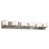 PLC 7616-SN De Lion Modern Satin Nickel Halogen 6-Light Bathroom Vanity Light Fixture