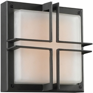 PLC 8026BZLED Piccolo Modern Bronze LED Exterior Light Sconce