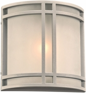 PLC 8045SLLED Summa Contemporary Silver LED Outdoor Lamp Sconce